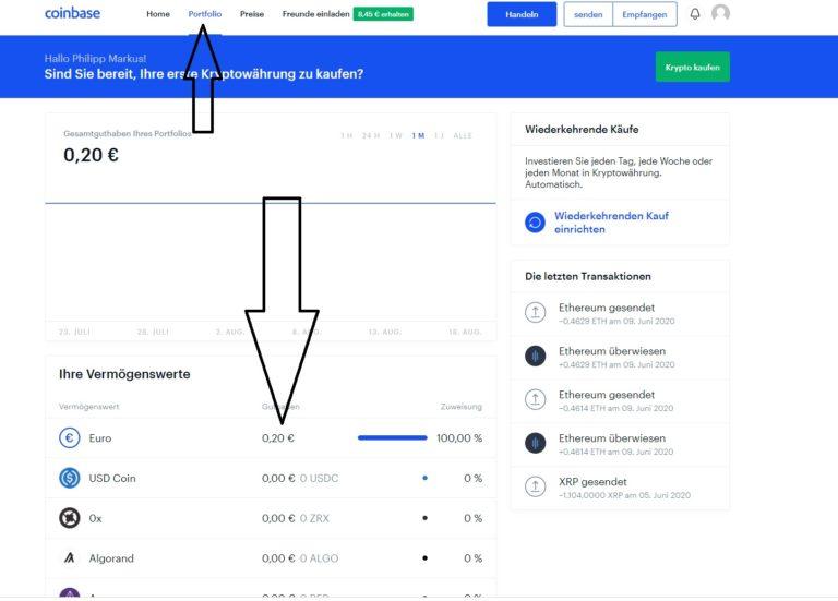 coinbase-geld-einzahlen