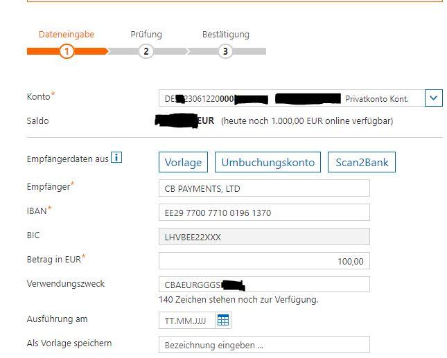 coinbase-überweisung-online-banking