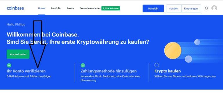 coinbase-konto-verifizieren