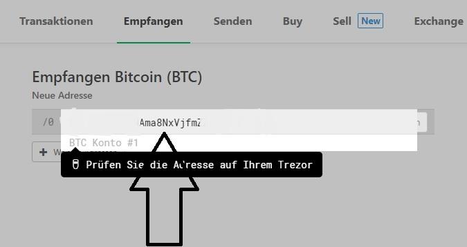trezor-bitcoins-verschieben-empfangen