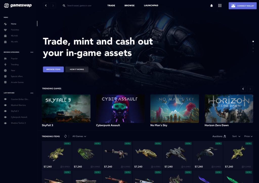 GSWAP-in-game-asset-token-handeln
