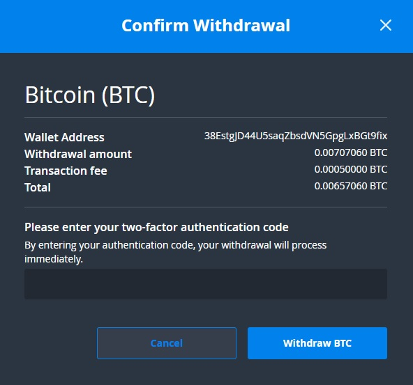 exchange-bittrex-withdraw-auszahlen-two-factor