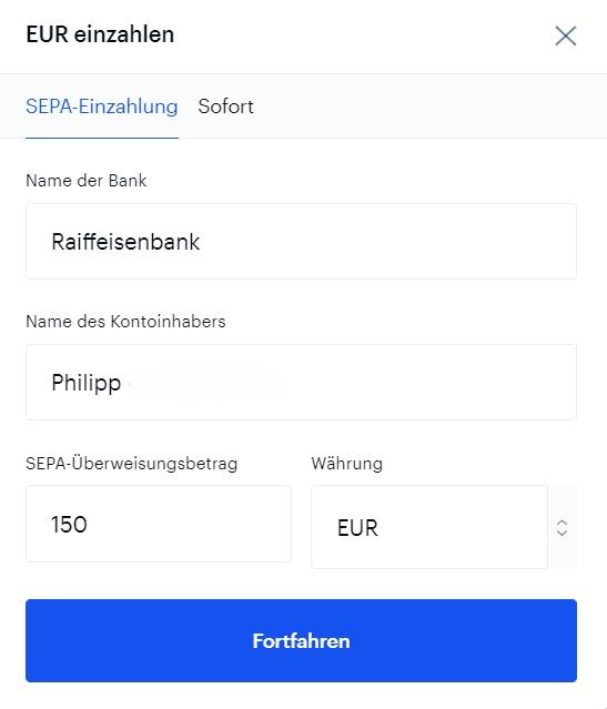 coinbase-sepa-einzahlung-euro-Girokonto