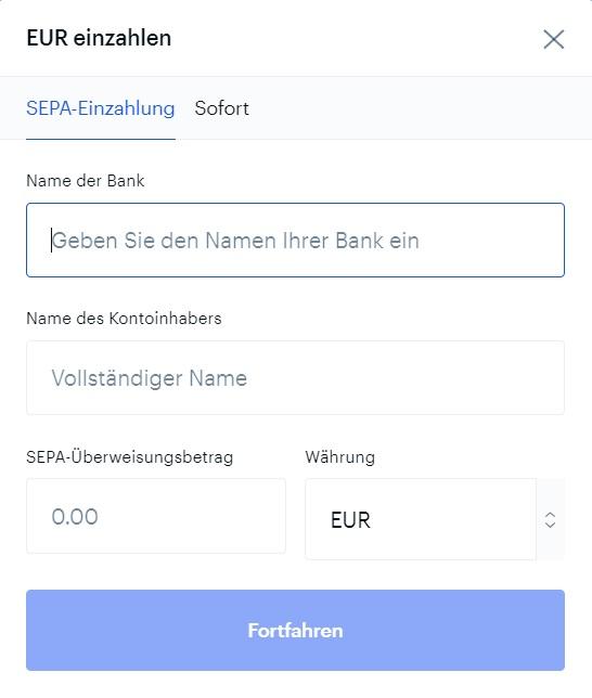 coinbase-sepa-einzahlung-euro
