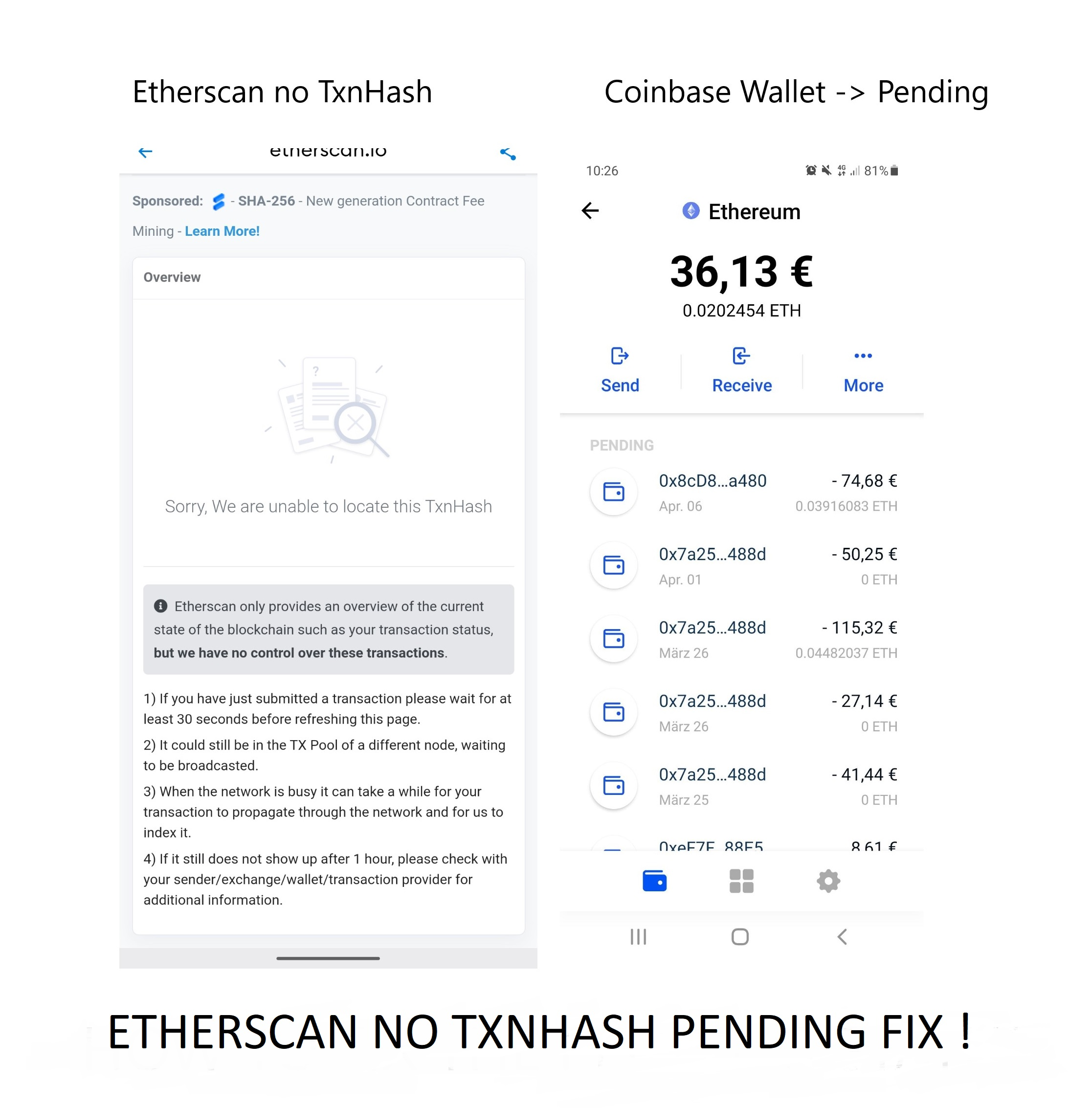 You are currently viewing Coinbase Wallet Txnhash PENDING how to fix!