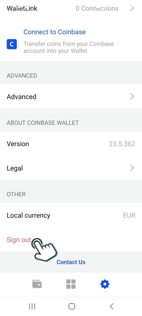 coinbasewallet-sign-out-pending