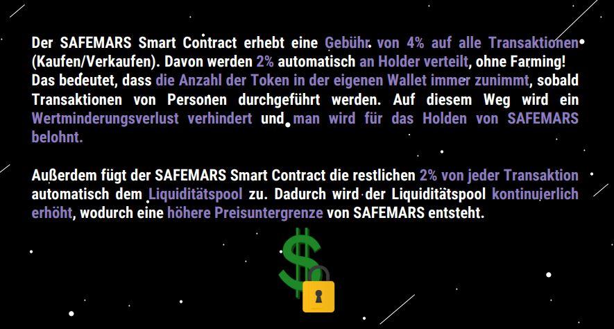 safemars-smart-contract-gebuehr